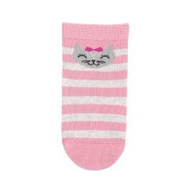 Dívčí kojenecké ponožky WOLA KOČIČKA růžové Velikost: 12-14