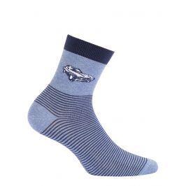 Chlapecké ponožky WOLA AUTO modré Velikost: 39-41