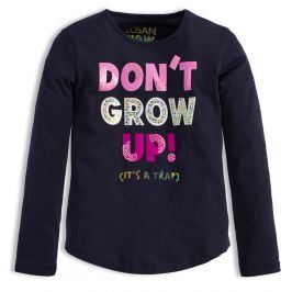 Dívčí triko LOSAN DON´T GROW modré Velikost: 128