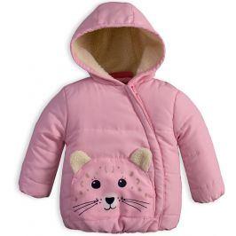 Dětská zimní bunda KNOT SO BAD ANIMALS růžová Velikost: 68