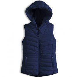 Dívčí prošívaná vesta KNOT SO BAD tmavě modrá Velikost: 92