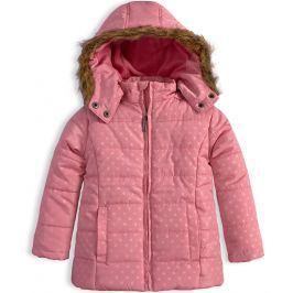 Dívčí zimní bunda KNOT SO BAD PUNTÍKY růžová Velikost: 92
