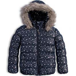 Dívčí zimní bunda LEMON BERET HVĚZDIČKY tmavě modrá Velikost: 92-98