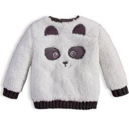 Dětská chlupatá mikina KNOT SO BAD PANDA bílá Velikost: 56