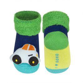 SOXO Kojenecké ponožky s chrastítkem AUTÍČKO tmavě modré Velikost: 16-18