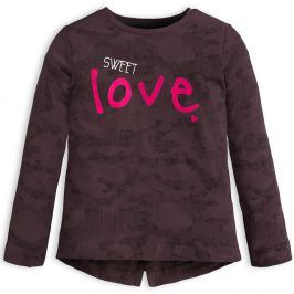 Dívčí triko KNOT SO BAD SWEET LOVE šedé Velikost: 92