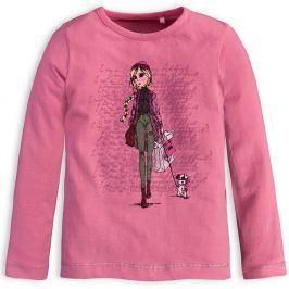 Dívčí tričko s dlouhými rukávy KNOT SO BAD SHOPPING růžové Velikost: 92