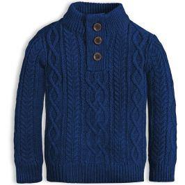 Chlapecký svetr KNOT SO BAD STYLE modrý Velikost: 92