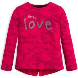 Dívčí triko KNOT SO BAD SWEET LOVE růžové Velikost: 92