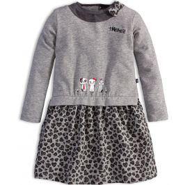 Dívčí šaty s dlouhým rukávem Mix´nMATCH KOČIČKY šedé Velikost: 92