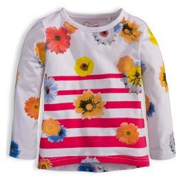 Dívčí triko KNOT SO BAD KVĚTY růžový proužek Velikost: 110