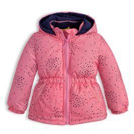 Dětská zimní bunda LEMON BERET HVĚZDIČKY růžová Velikost: 68
