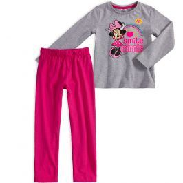 Dívčí pyžamo DISNEY MINNIE SMILE šedé Velikost: 92