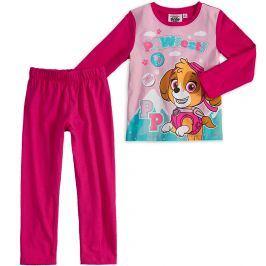 Dívčí pyžamo PAW PATROL SKYE tmavě růžové Velikost: 104