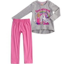 Dívčí pyžamo BARBIE JEDNOROŽEC šedý melír Velikost: 92