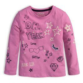 Dívčí tričko s dlouhým rukávem LOSAN YEAH růžové Velikost: 104