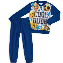 Chlapecké pyžamo EMOJI SMAJLÍK tmavě modré Velikost: 116