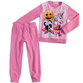Dívčí pyžamo EMOJI SMAJLÍK světle růžové Velikost: 116