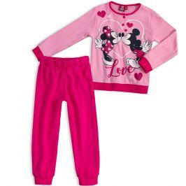 DISNEY MINNIE Dívčí pyžamo DISNEY MICKEY MOUSE MICKEY a MINNIE růžové Velikost: 128