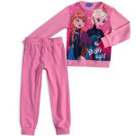 Dívčí pyžamo DISNEY FROZEN ANNA a ELSA světle růžové Velikost: 98