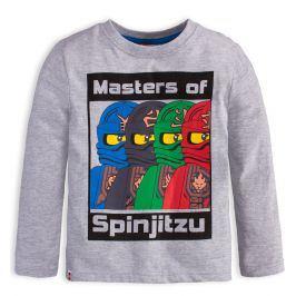 Chlapecké tričko LEGO NINJAGO SPINJITZU šedé Velikost: 104