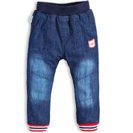 Dětské zateplené džíny CANGURINO MEDVÍDEK modré Velikost: 92