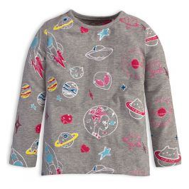 Dívčí tričko s dlouhým rukávem KNOT SO BAD UNIVERSE šedé Velikost: 92