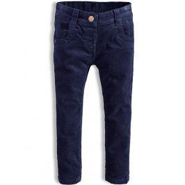 Dívčí manžestrové kalhoty  MINOTI HAPPY tmavě modré Velikost: 86-92