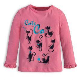Dívčí tričko KNOT SO BAD CATS růžové Velikost: 62