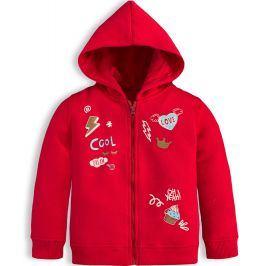Dívčí mikina KNOT SO BAD COOL červená Velikost: 62