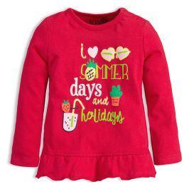 Dívčí tričko KNOT SO BAD HOLIDAYS červené Velikost: 62
