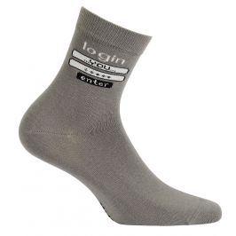 Chlapecké vzorované ponožky GATTA LOGIN šedé Velikost: 33-35