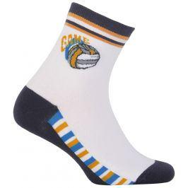 Chlapecké ponožky WOLA GAME bílé Velikost: 36-38