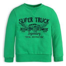 Chlapecká mikina KNOT SO BAD SUPER TRUCK zelená Velikost: 92