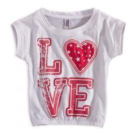 Dívčí tričko s flitry PEBBLESTONE LOVE bílé Velikost: 92-98