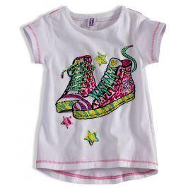 Dívčí tričko PEBBLESTONE TENISKY bílé Velikost: 92-98