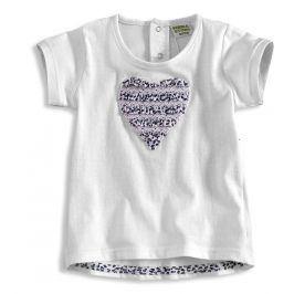 Kojenecké dívčí tričko PEBBLESTONE SRDCE bílé Velikost: 68
