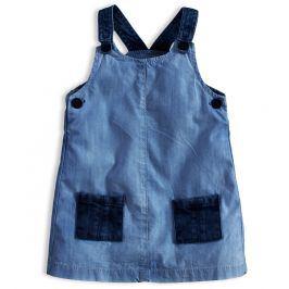 Dívčí šaty KNOT SO BAD DENIM STYLE tmavší modré Velikost: 62