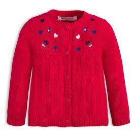 Kojenecký dívčí svetr BABALUNO SPARKLE červený Velikost: 56-62