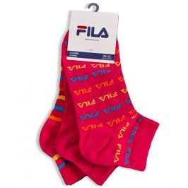 Dámské ponožky FILA 3 páry růžové Velikost: 35-38