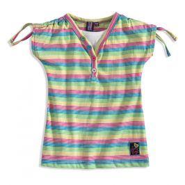 Dívčí tričko PEBBLESTONE SUMMER modré proužky Velikost: 92-98