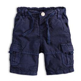 Chlapecké plátěné šortky PEBBLESTONE GREATEST modré Velikost: 68