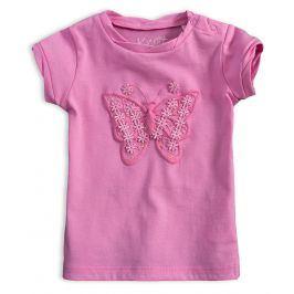 Dívčí tričko KNOT SO BAD MOTÝL růžové Velikost: 62