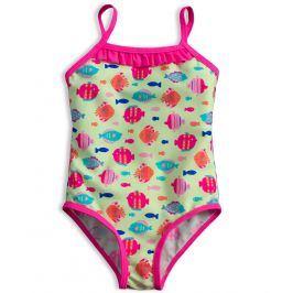 Plavky vcelku pro holčičky KNOT SO BAD RYBKY zelené Velikost: 80