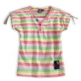 Dívčí tričko PEBBLESTONE SUMMER růžové proužky Velikost: 92-98