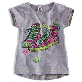 Dívčí tričko PEBBLESTONE TENISKY šedé Velikost: 92-98