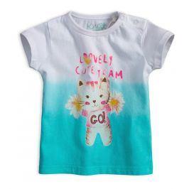 Dívčí tričko KNOT SO BAD CUTE TEAM tyrkysové Velikost: 62