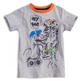 Chlapecké tričko KNOT SO BAD DINO šedé Velikost: 92