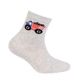Chlapecké ponožky s obrázkem GATTA NÁKLAĎÁK šedé Velikost: 24-26