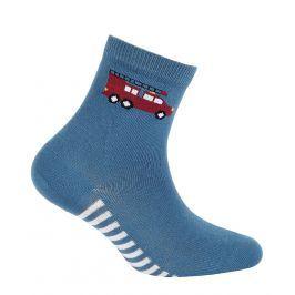 Chlapecké vzorované ponožky GATTA HASIČI modré lazur Velikost: 24-26